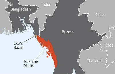 Mapa crisis de los Rohingya